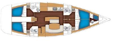 Sunsail Cyclades 50.4 Monohull